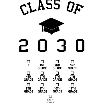 Class of 2030 grow with me t shirt posters stickers wall by farhanhafeez