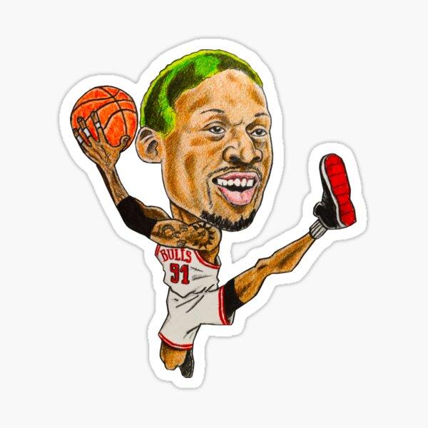 Rodman Caricature Sticker