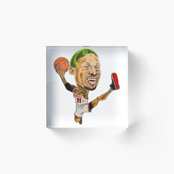 Rodman Caricature Acrylic Block