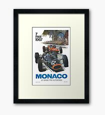 Retro Poster Großer Preis von Monaco 1967 Gerahmtes Wandbild