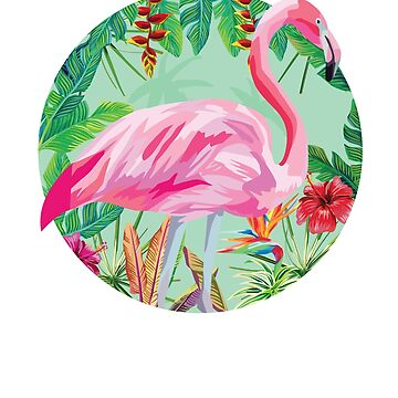 Vintage Tropical Flamingo by Pointee