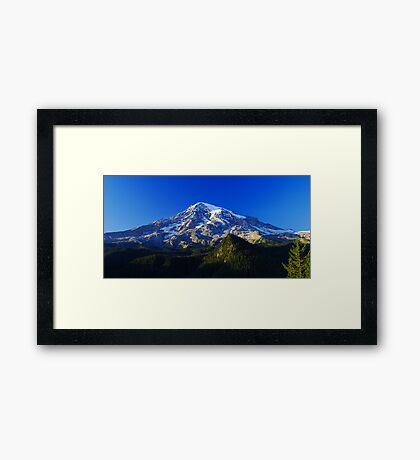Blue Rainier Panorama Framed Print