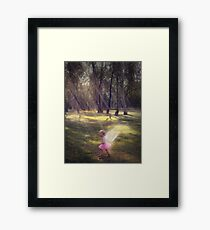 """Woodland Angel"" - A Tribute To Breast Cancer Awareness Framed Print"