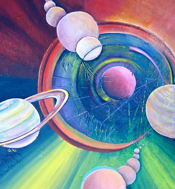 Planetary Alignment by Giselle Luske