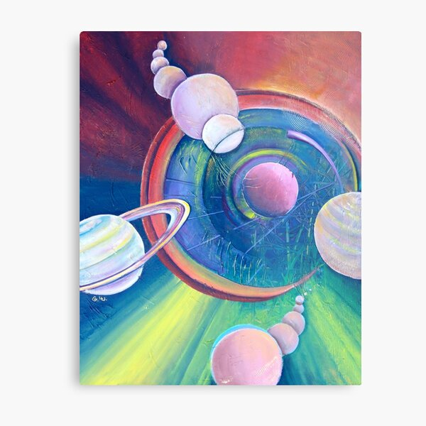 Planetary Alignment Metal Print