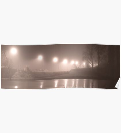Wairoa River at night pano Poster