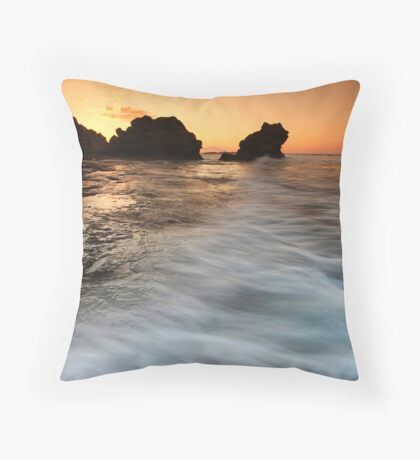 Morning Waves Throw Pillow