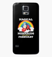 February Birthday Design - Magical Mermaids Are Born In February Case/Skin for Samsung Galaxy