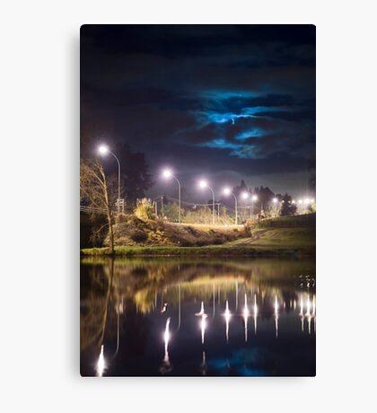 Wairoa River at night 9 Canvas Print