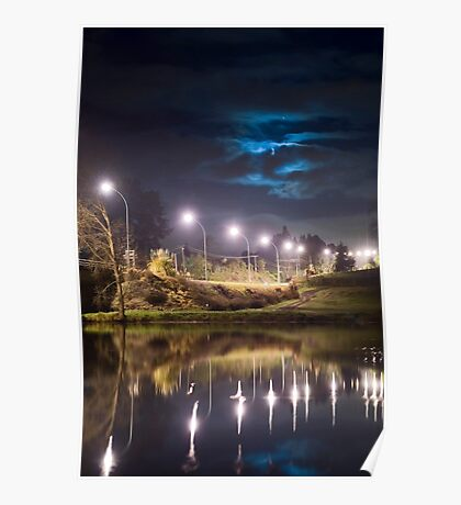 Wairoa River at night 9 Poster