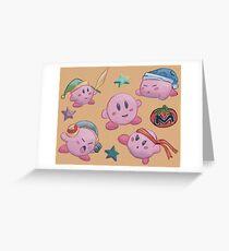 Eine ganze Menge Kirby Grußkarte
