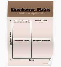 Eisenhower Matrix - Nature Poster