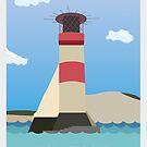 Die Nadeln, Insel von Wight Travel Poster von jazzieart