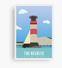The Needles, Isle of Wight Travel Poster Canvas Print