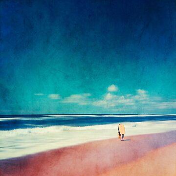 Summer Days - Beach Scene with Surfer by DyrkWyst