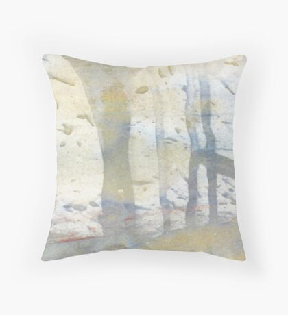 watercolour limpet Throw Pillow