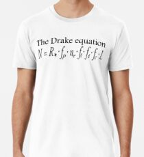 Aliens, The Drake equation, SETI, Alien, search for extraterrestrial life, Contact, Is there anyone there? Men's Premium T-Shirt
