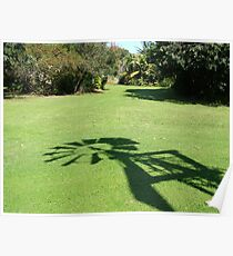 Windmill Shadow Poster