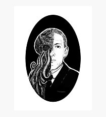 HP Lovecraft & Cthulhu Portrait Photographic Print