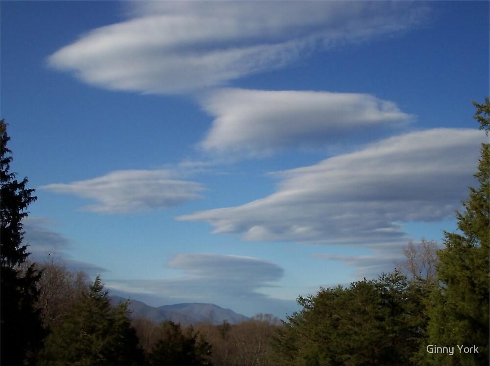 UFO CLOUDS by Ginny York