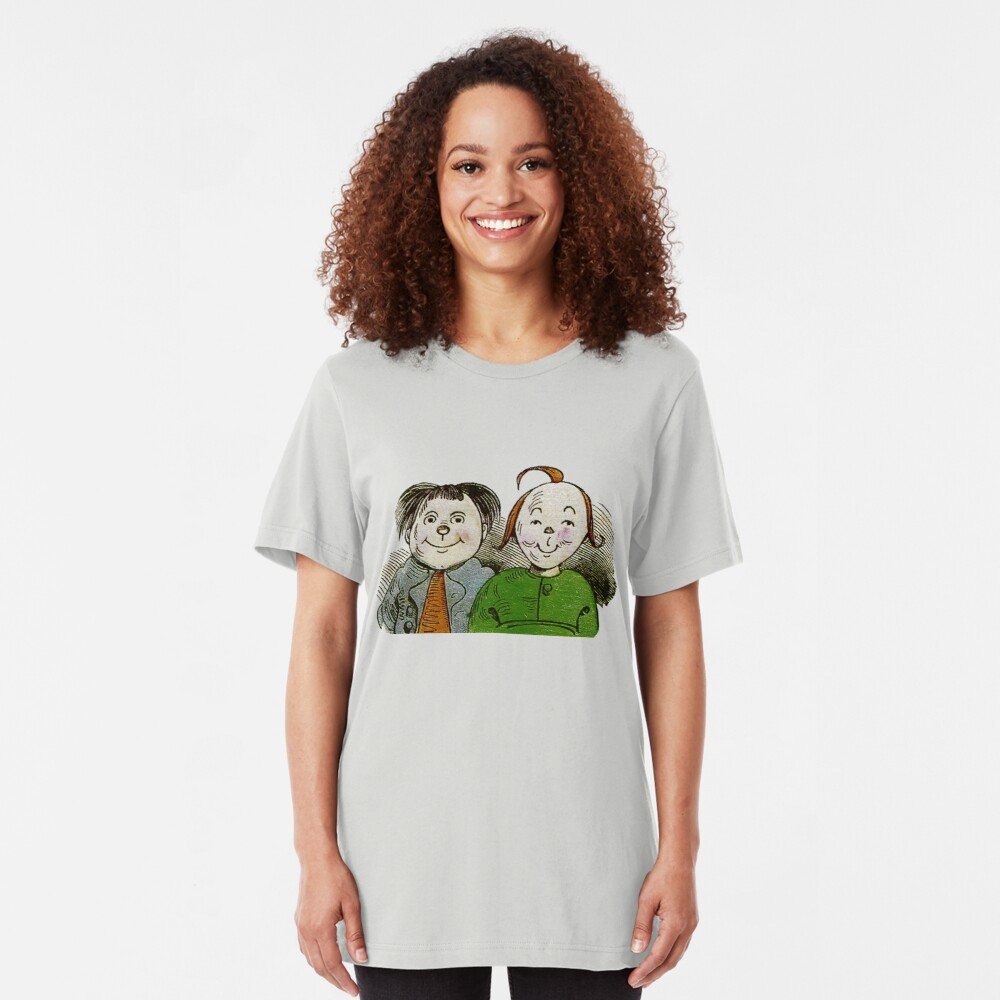 Max and Moritz , the iconic terrible duo Slim Fit T-Shirt