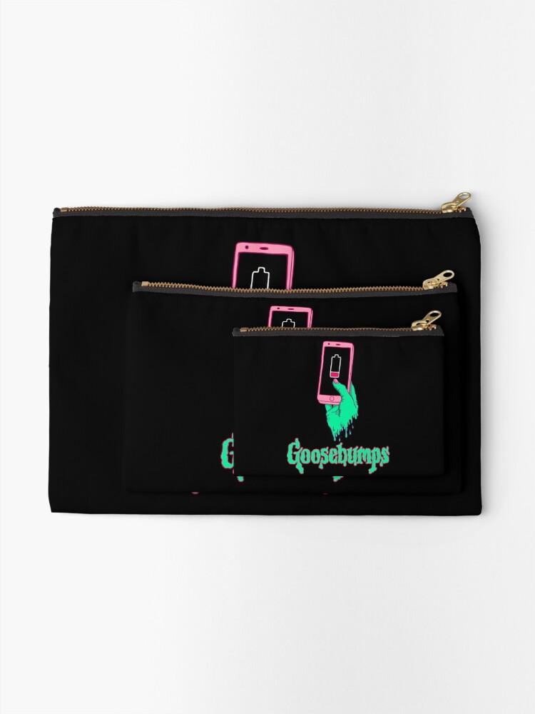 Goo-seBumps Canvas Cash Coin Purse Zipper Pouch Phone Pouch And Woman Make Up Bag
