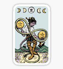 Critical Tarot - Two of Pentacles Sticker