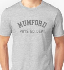 MUMFORD PHYS. ED. DEPT. Funny 80s Cult Slim Fit T-Shirt