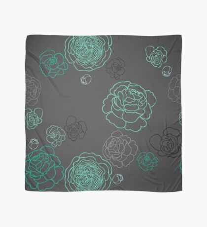 Cabbage Roses Scarf