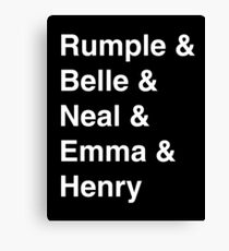 Rumple & Belle & Neal & Emma & Henry Canvas Print