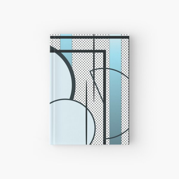 Shapes graphic design in turquoise Hardcover Journal