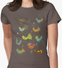 Posh birds Womens Fitted T-Shirt