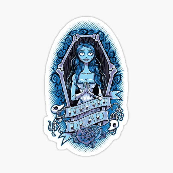 Forever Dead - Creepy Cute- Goth Bride Sticker