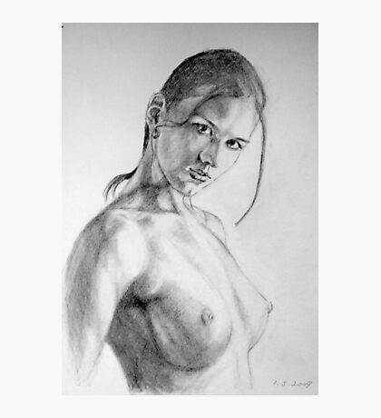 nude in pencil Photographic Print