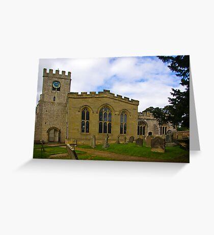 St Peter's Church-Brafferton Helperby,North Yorks Greeting Card