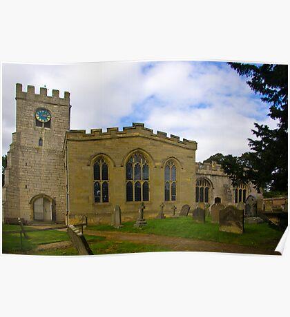 St Peter's Church-Brafferton Helperby,North Yorks Poster