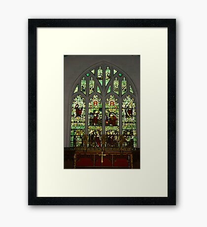 Window #1 St Peter's Church  Framed Print
