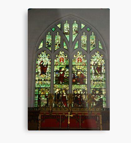 Window #1 St Peter's Church  Metal Print