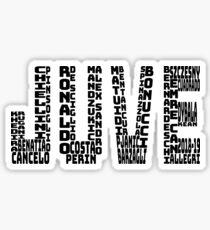 Juventus 2018-2019 - Black Text JUVE Sticker
