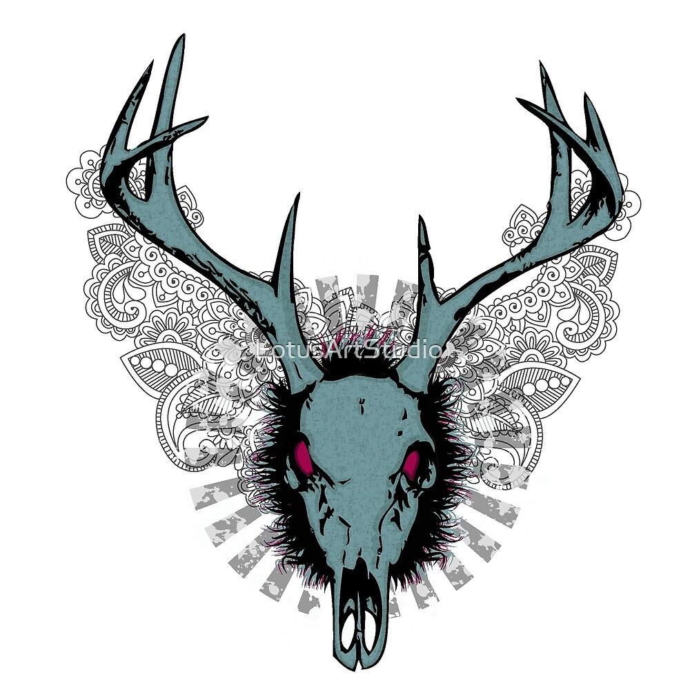 Deer skull  by LotusArtStudio