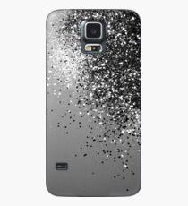 Funkelnde silbergraue Dame Glitter # 1 #shiny #decor #art Hülle & Klebefolie für Samsung Galaxy