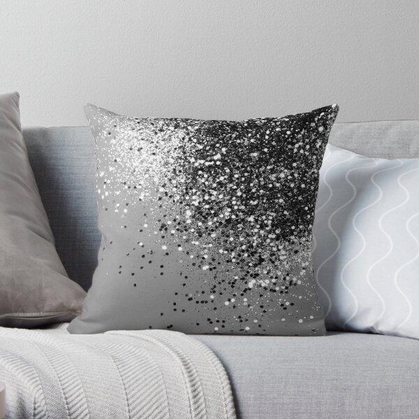 Sparkling Silver Grey Lady Glitter # 1 # brillant #décor #art Coussin