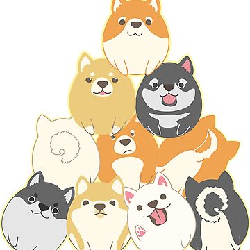 Shiba Inu Stack-Up by GiggleTees