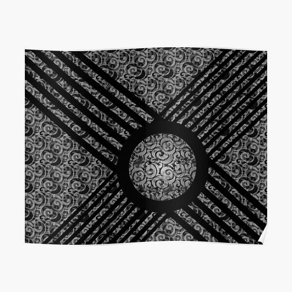 Black & White Graphic Design Poster
