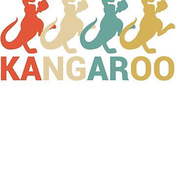 Australian Retro Kangaroo by berryferro