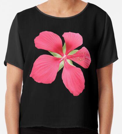 wunderschöne rote Blüte, Blume, Natur Chiffontop für Frauen