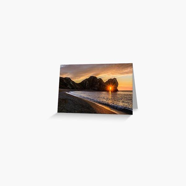 Durdle Door Sunrise Greeting Card