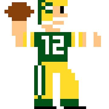 Aaron Rodgers Tecmo Bowl by JPrints