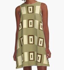 Coffee A-Line Dress