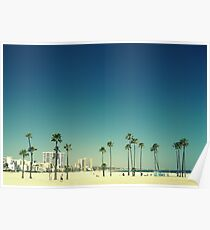 Summer Beach Blue Poster
